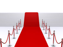 Escaliers et tapis rouge Images stock