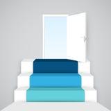 Escaliers hauts 3D infographic Calibre pour le diagramme, graphique Images libres de droits