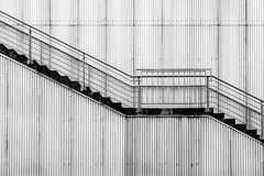 Escaliers industriels Photos stock