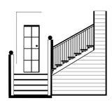 Escaliers, intérieurs photos stock
