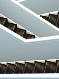 escaliers intérieurs abstraits de projectile Image libre de droits