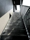 Escaliers isolés Photos stock