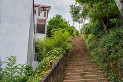 Escaliers jusqu'au dessus de la colline Photographie stock libre de droits