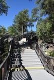 Escaliers le long des Présidents Trail chez le mont Rushmore Photo libre de droits