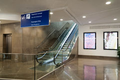 Escaliers mécaniques Images stock