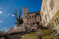 Escaliers menant au château en Allemagne image libre de droits