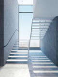 Escaliers modernes dans l'appartement terrasse Photos stock