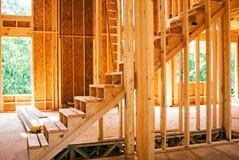 Escaliers neufs de chantier Image libre de droits