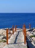 Escaliers rocheux Photos libres de droits