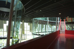 Escaliers rouges Images stock