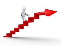 Escaliers s'élevants de réussite Image stock
