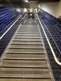Escaliers souterrains de Londres images stock