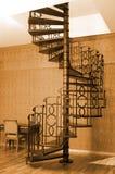 Escaliers spiralés Photo stock