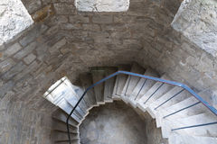 Escaliers spiralés Images libres de droits