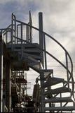escaliers spiralés industriels Photos libres de droits