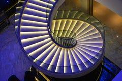 escaliers spiralés modernes Photo libre de droits