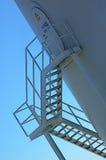 Escaliers sur la plate-forme pétrolière Photographie stock