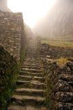 Escaliers sur le journal d'Inca Photos libres de droits