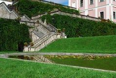Escaliers - teplou de Becov NAD Image stock