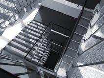 Escaliers vers le bas Image libre de droits