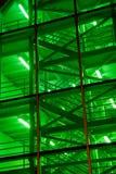 Escaliers verts Photographie stock libre de droits