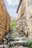 Escaliers Wadi Bani Habib Image stock