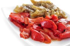Escalivada, plato típico de las verduras de Cataluña, España Fotos de archivo libres de regalías