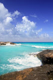 Escalo es calo Formentera north rocky coast aqua Stock Photos