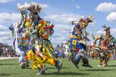 Escalonamiento hacia fuera en el powwow Imágenes de archivo libres de regalías