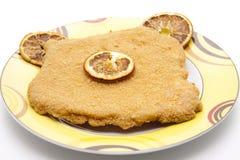 Escalope with lemon Royalty Free Stock Image