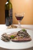 Escalope with mushroom Royalty Free Stock Image