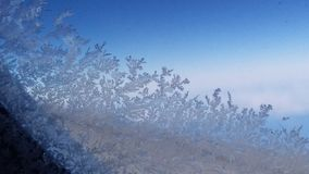 Escama de la nieve en el avión foto de archivo