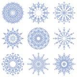 Escamas cristalinas abstractas heladas de la nieve del vector libre illustration