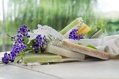 Escamas de jabón coloreadas Foto de archivo libre de regalías