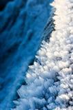 Escamas de la nieve y creación de la helada foto de archivo