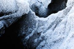 Escamas de la nieve y creación de la helada imágenes de archivo libres de regalías
