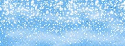 Escamas de los copos de nieve que caen en el fondo aislado, ventisca con el viento Elemento del diseño de la capa Decoración de l libre illustration