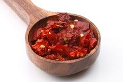 Escamas de pimienta roja Imagenes de archivo