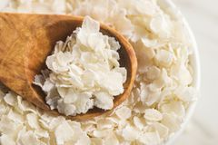 Escamas del arroz del cereal imágenes de archivo libres de regalías