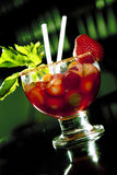 Escamocha arandas. Tequila drink with fruit and vegetables Stock Photo
