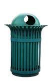 Escaninho ao ar livre isolado na cor verde Imagens de Stock Royalty Free