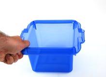 Escaninho azul Fotografia de Stock Royalty Free
