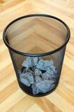 escaninho com desperdício do papel Imagem de Stock