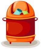 Escaninho de lixo ilustração stock