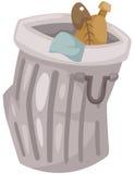 Escaninho de lixo Foto de Stock
