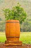 Escaninho de lixo de madeira Imagens de Stock