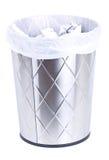 Escaninho de lixo do lixo isolado no branco. imagem de stock