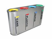 Escaninho de recicl colorido Fotografia de Stock