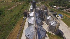 Escaninhos da grão, vista aérea video estoque