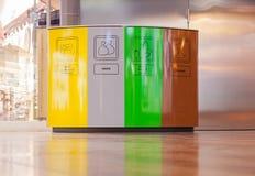Escaninhos da reciclagem e de lixo Imagens de Stock